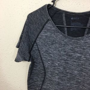 Zella Tops - Zella Stand out seamless athletic top gray size L